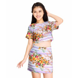 Set Áo Và Chân Váy Hoa Style