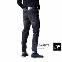 Quần jeans ống côn xám xước