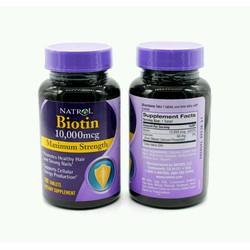 Viên uống kích thích mọc tóc Biotin 10000mcg Maximun Strength