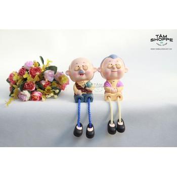 Cặp tượng Ông già bà già ngồi để bàn - cặp tượng ông bà ...
