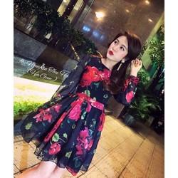 Đầm xòe hoa siêu xinh cao cấp