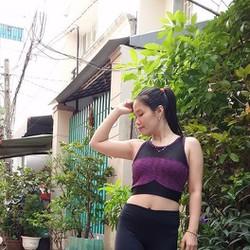 Bộ tập gym, áo croptop quần dài