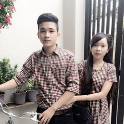 Áo váy cặp caro