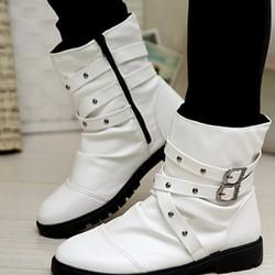 giày boot nam dây chéo đính hạt Mã: GH0459 - TRẮNG