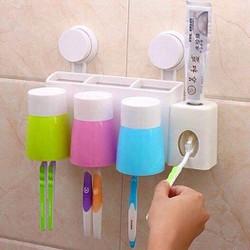 dụng cụ nhả kem đánh răng tự đồng 3 cốc hít chân không