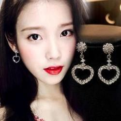 Bông tai tim thời trang Hàn Quốc