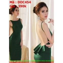 Đầm ôm dự tiệc kiểu 2 dây hở lưng tôn dáng đẹp DOC454