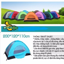 Lều cắm trại dùng cho 2 người