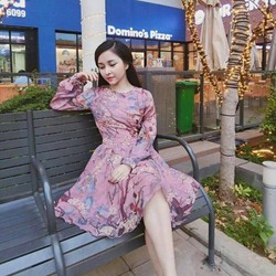 Đầm dự tiệc họa tiết hoa