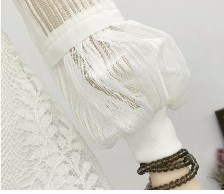 Set Đầm ren trắng tay dài TẶNG kèm thắt lưng 5