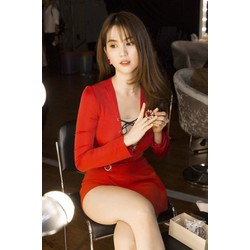 Đầm đỏ đan dây sexy dễ thương 1873