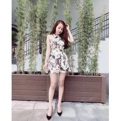 Jumpsuit short yếm hoa _MỎ CHU SHOP