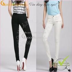 Quần jean nữ co giãn skinny túi khóa GLQ008