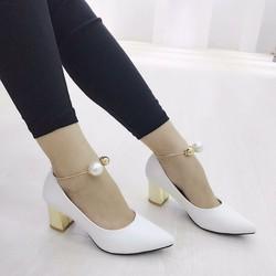 giày gót vuong bít mũi