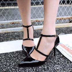 Giày cao gót quai cài chữ T kiểu mới - LN1147