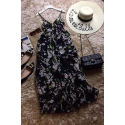 Đầm Maxi hoa đào