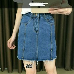 Chân váy jean ngắn vừa