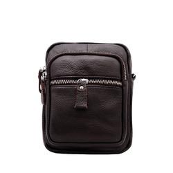 Túi đeo chéo nam da bò thật cao cấp ELMI màu nâu ETM772