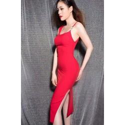 Đầm đỏ body xẻ tà sexy 1898