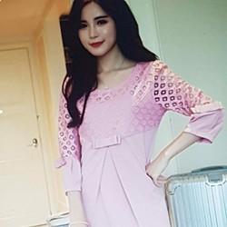 Đầm nữ thiết kế sang trọng, phong cách Hàn.