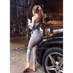 Set bộ dài áo lệch vai _MỎ CHU SHOP