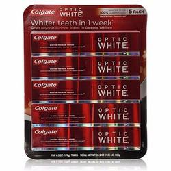Lốc 5 hộp kem đánh răng Colgate Optic White 178g Wowmart VN