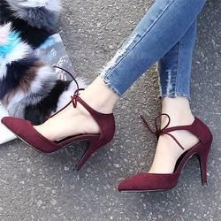Giày cao gót nữ buộc dây thời trang - LN1141