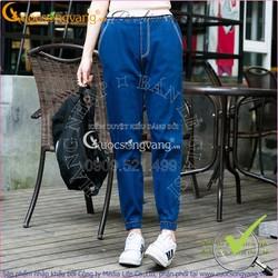 Quần jean nữ đẹp co giãn lưng thun lưng cao Jogger GLQ015
