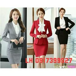 Bộ vest công sở thời trang Hàn QUốc mới L12A231