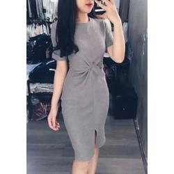 Đầm body xoắn eo