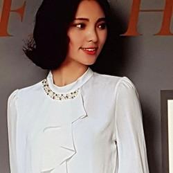 Áo voan nữ kiểu dáng sang trọng, phong cách quý phái.