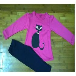 Bộ quần áo thu đông mèo tím