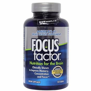 Viên uống tăng cường chức năng não Focus Factor 150 viên Wowmart VN