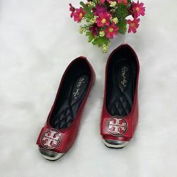 giày bup bê lòng chần chỉ êm mũi bít đồng