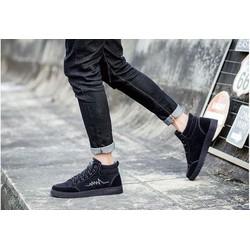 Giày nam sneaker thời trang chất liệu vải nhìn như da lộn