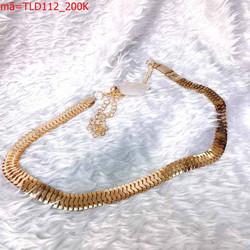 Thắt lưng nữ phối đầm dây xích vàng trẻ trung phong cách TLD112