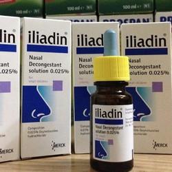 Nhỏ mũi iliadin 0,025