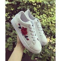 Giày bata thêu hoa