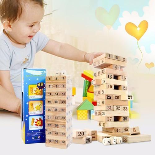 Bộ đồ chơi rút gỗ số cho bé