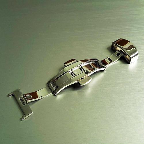 Khóa dây đồng hồ, Khóa bướm hai nút bấm inox không gỉ - Mã K1601