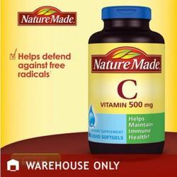 Nature Made Vitamin C 500mg 180 viên Softgels từ Mỹ