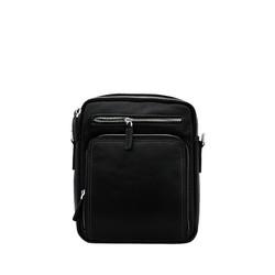 Túi đeo chéo nam da bò thật cao cấp ELMI màu đen ETM781