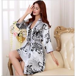 Váy ngủ phi bóng cao cấp kèm áo choàng