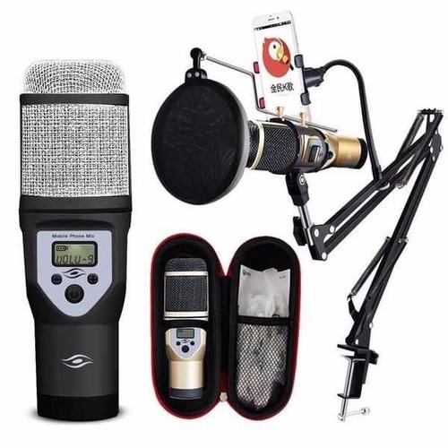 Micro thu âm kèm giá khung sành điệu