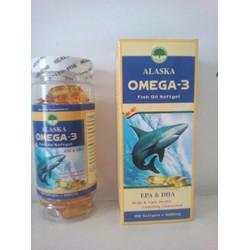 Viên Dầu Cá Alaska Omega-3 Wild Salmon Oil 1000mg