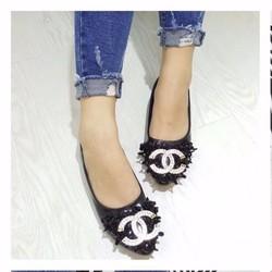 giày búp bê tag logo đính đá 1937