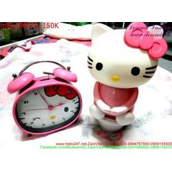 Đèn ngủ Kitty màu hồng nhạt cực xinh xắn DNKT9