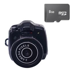Bộ 1 Camera móc khóa Mini DV Hola Đen kèm Thẻ nhớ 8Gb