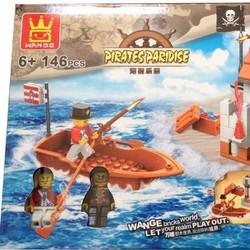 ráp hình khối, xếp hình khối cướp biển 146 miếng đẹp như Lego. 27042