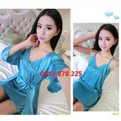 [Hàng đẹp y hình] Đầm ngủ kèm áo khoác choàng
